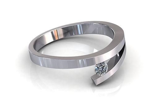 Prsten s dijamantima B170