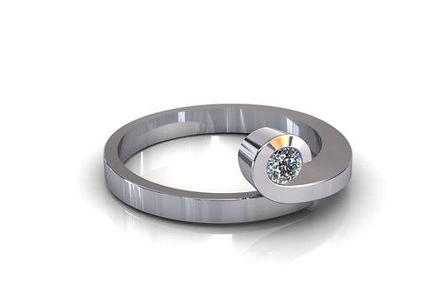 Prsten s dijamantima B204