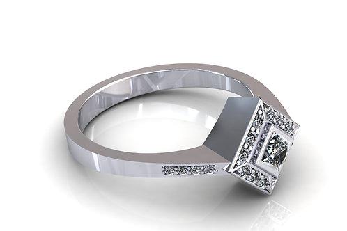 Prsten s dijamantima B150