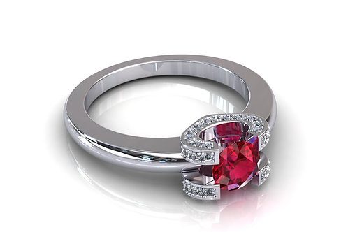 Prsten s dijamantima B148