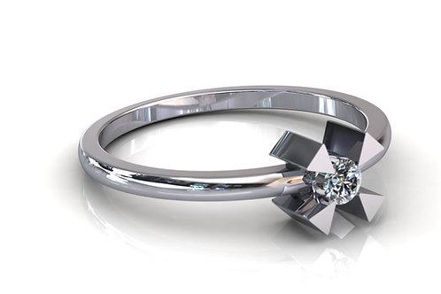 Prsten s dijamantima B167