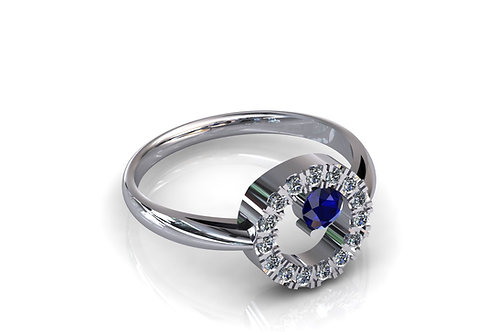 Prsten sa dijamantima B219