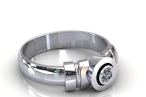 Prsten s dijamantima B158