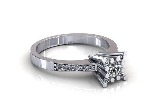 Prsten s dijamantima B179