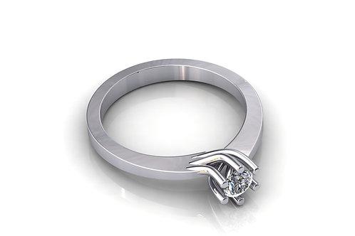 Prsten sa dijamantima B235