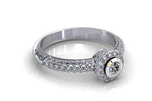 Prsten s dijamantima B149