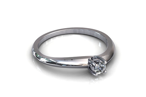 Prsten s dijamantom B201