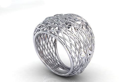 Prsten Čipka Srebro 925