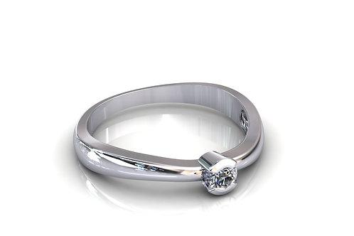 Prsten s dijamantima B209