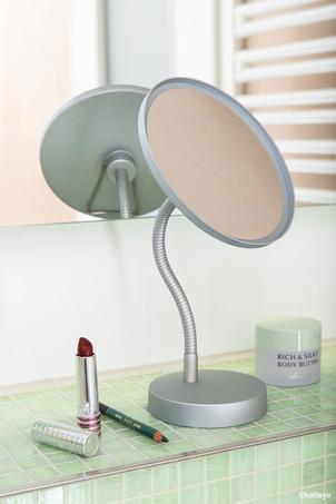 Unbeleuchteter Standspiegel in Silber