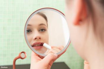 Mobiler Kosmetikspiegel unbeleuchtet