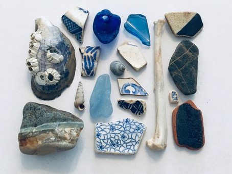 Coloured collections from the coast.