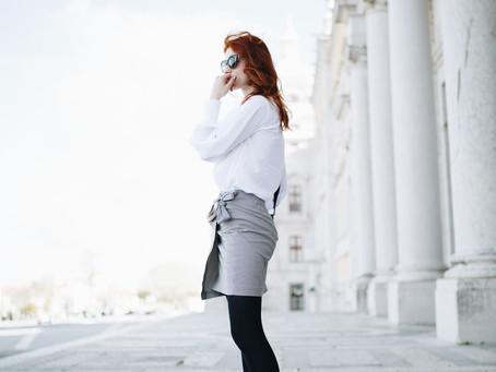 Gingham Mini Skirt & Metropolis Furla Bag