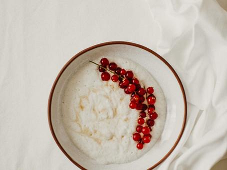 Mousse de Coco com Groselhas (s/ açúcar)