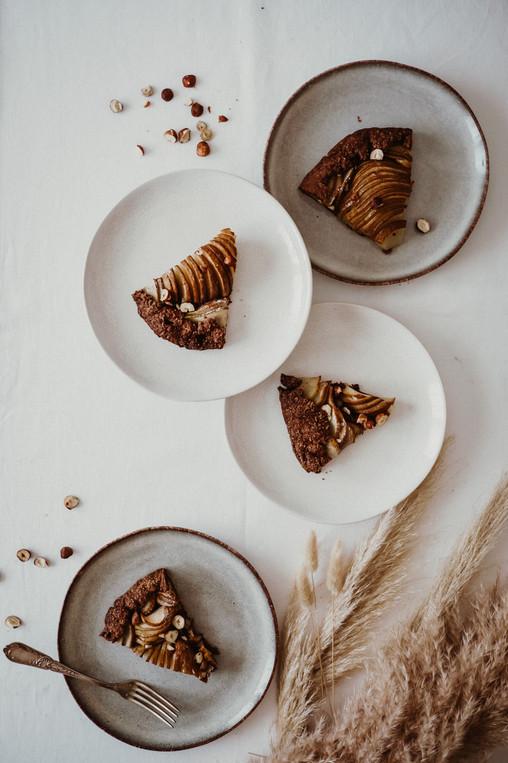 Crostatta de Chocolate com Pêras e Avelãs