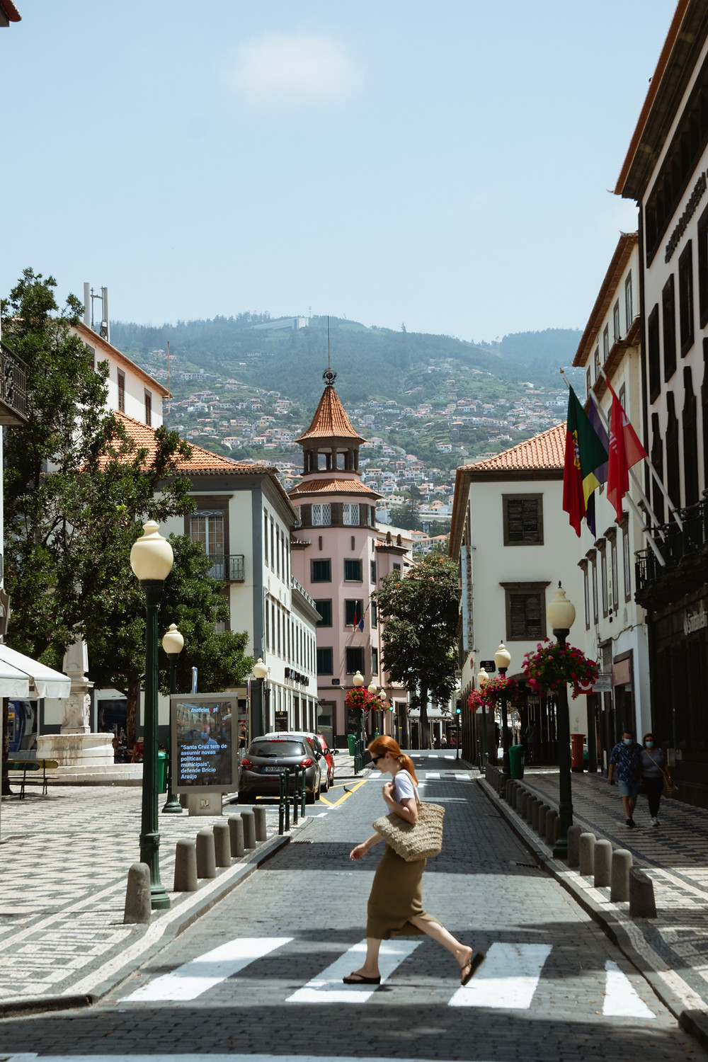 Suvelle a passear no centro do Funchal