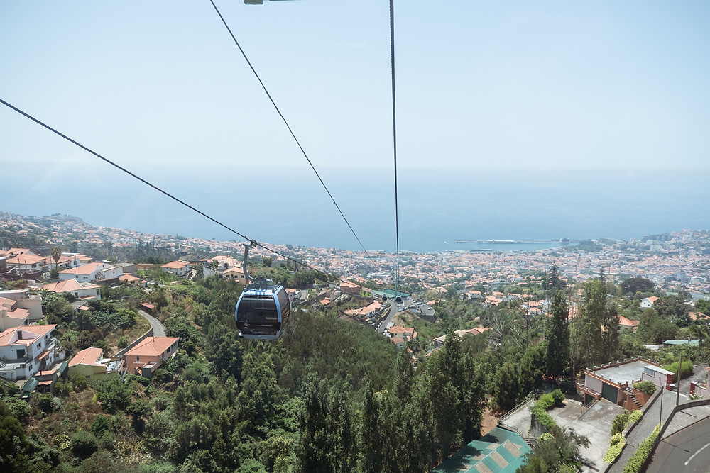 Vista do Teleférico na Madeira