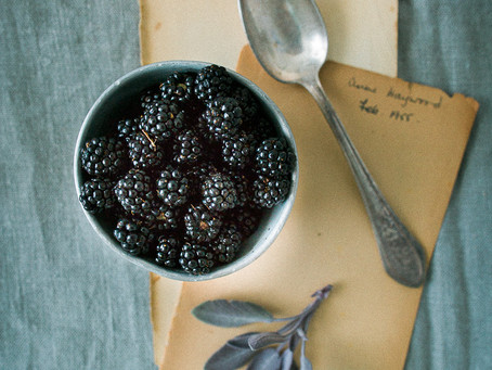 Blackberry & Chocolate triple Chia pudding with Quark