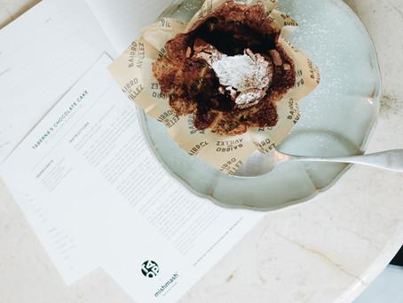 The Art of Plating Recipe Notebook por Mishmash e o Bolo de Chocolate da Taberna do Bairro do Aville