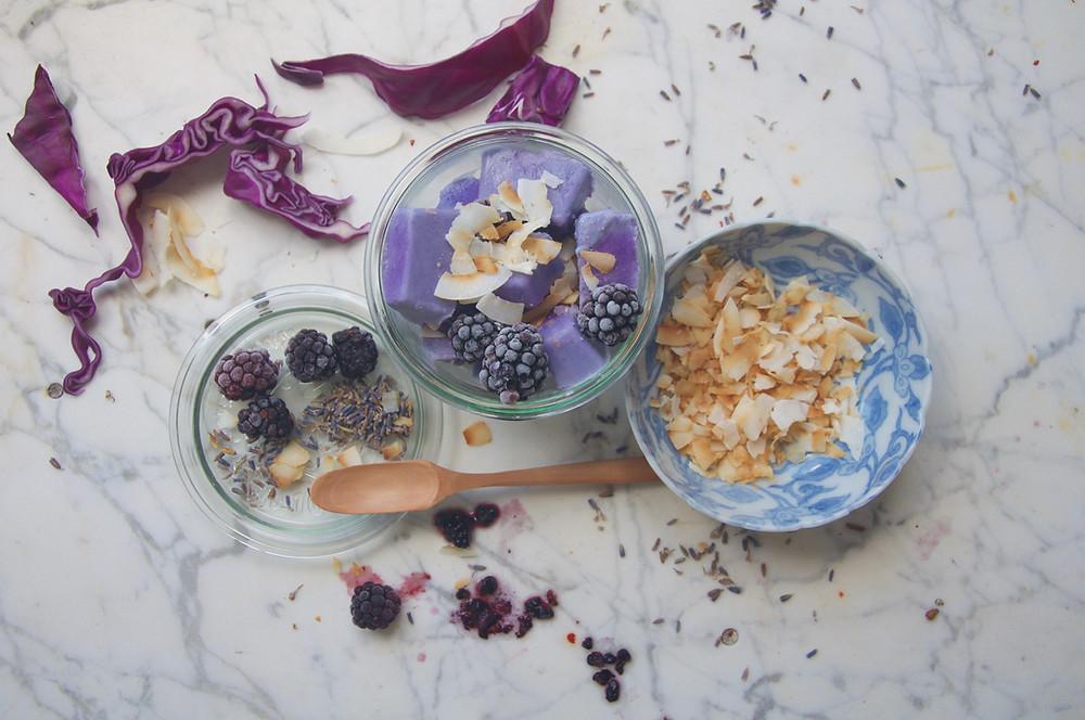 Lavender Coconut Ice Cream