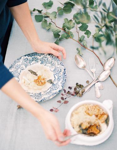 Risotto de Couve-flor assada com Salva e Brie