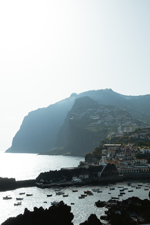 Vista da Câmara de Lobos na Madeira