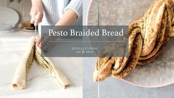 Pão entrançado de Pesto