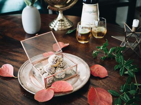Frangelico com lima & Ferrero Rocher Caseiro Vegan