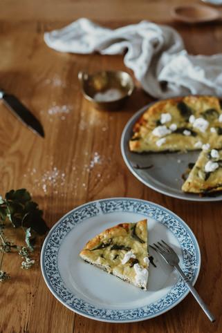 Frittata de Espinafres e Courgette