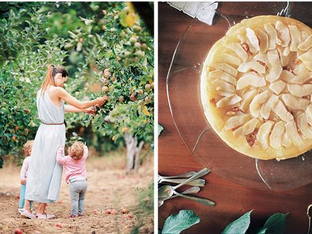 Apple tart tatin with walnuts