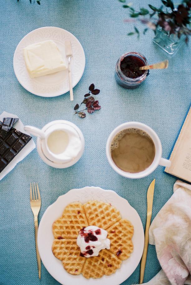 Waffles de Espelta