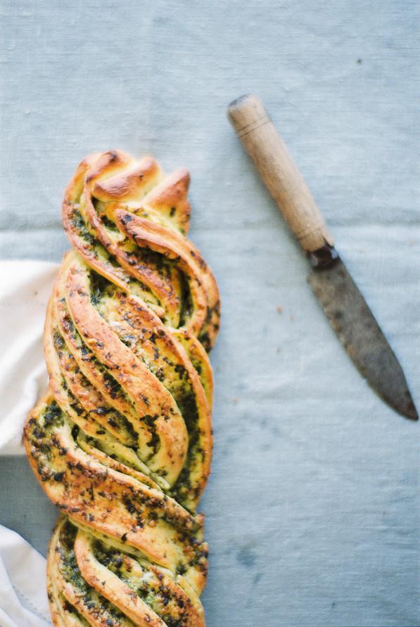 Pesto Braided Bread