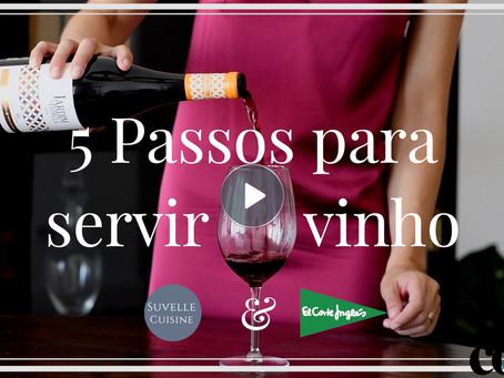 5 Passos para Servir Vinho - Cook Ideas com o El Corte Inglés