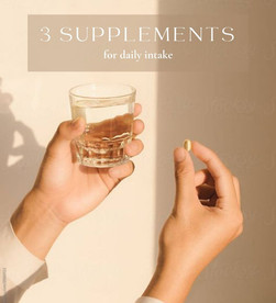 The supplements I take daily