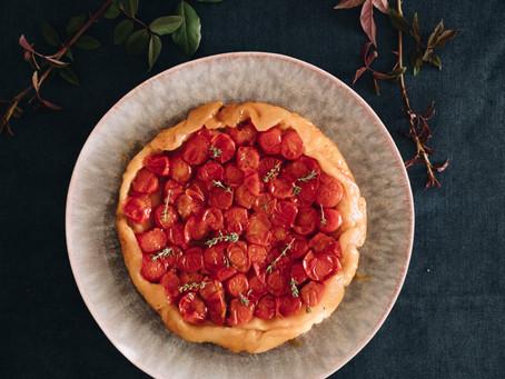 Tarte Tatin de Tomate Cherry com balsâmico