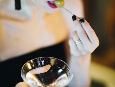 Veludo preto e um Martini