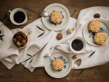 Chestnut spelt cakes by Hildegard