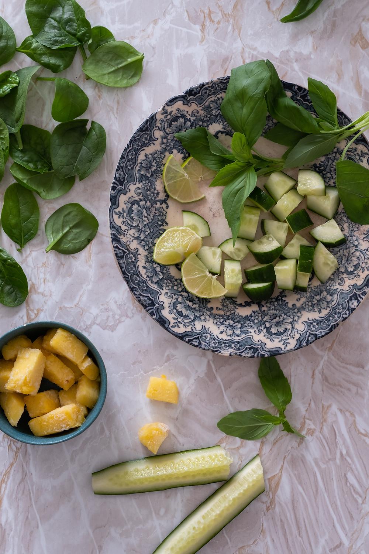 Cucumber Basil green smoothie