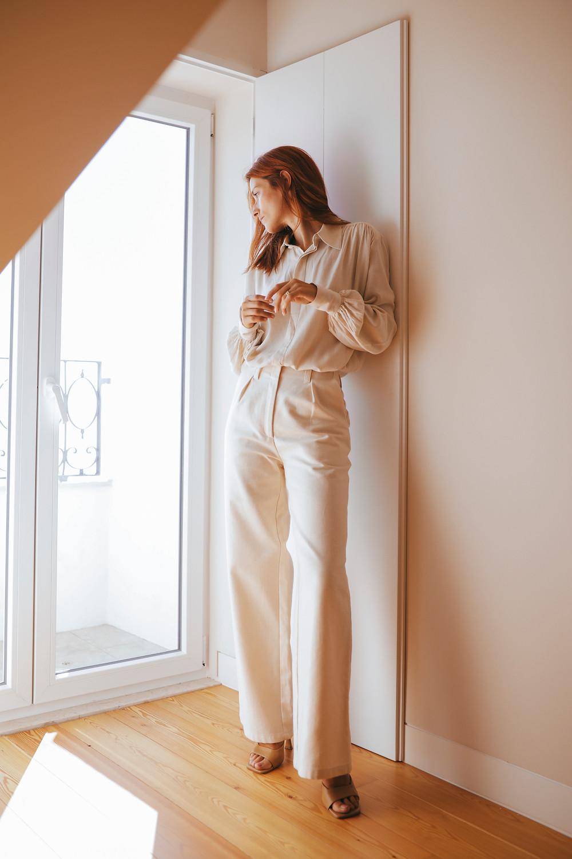 Calça branca e camisa linho branca