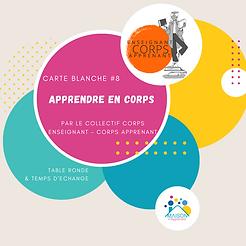 Carte Blanche : Apprendre en Corps