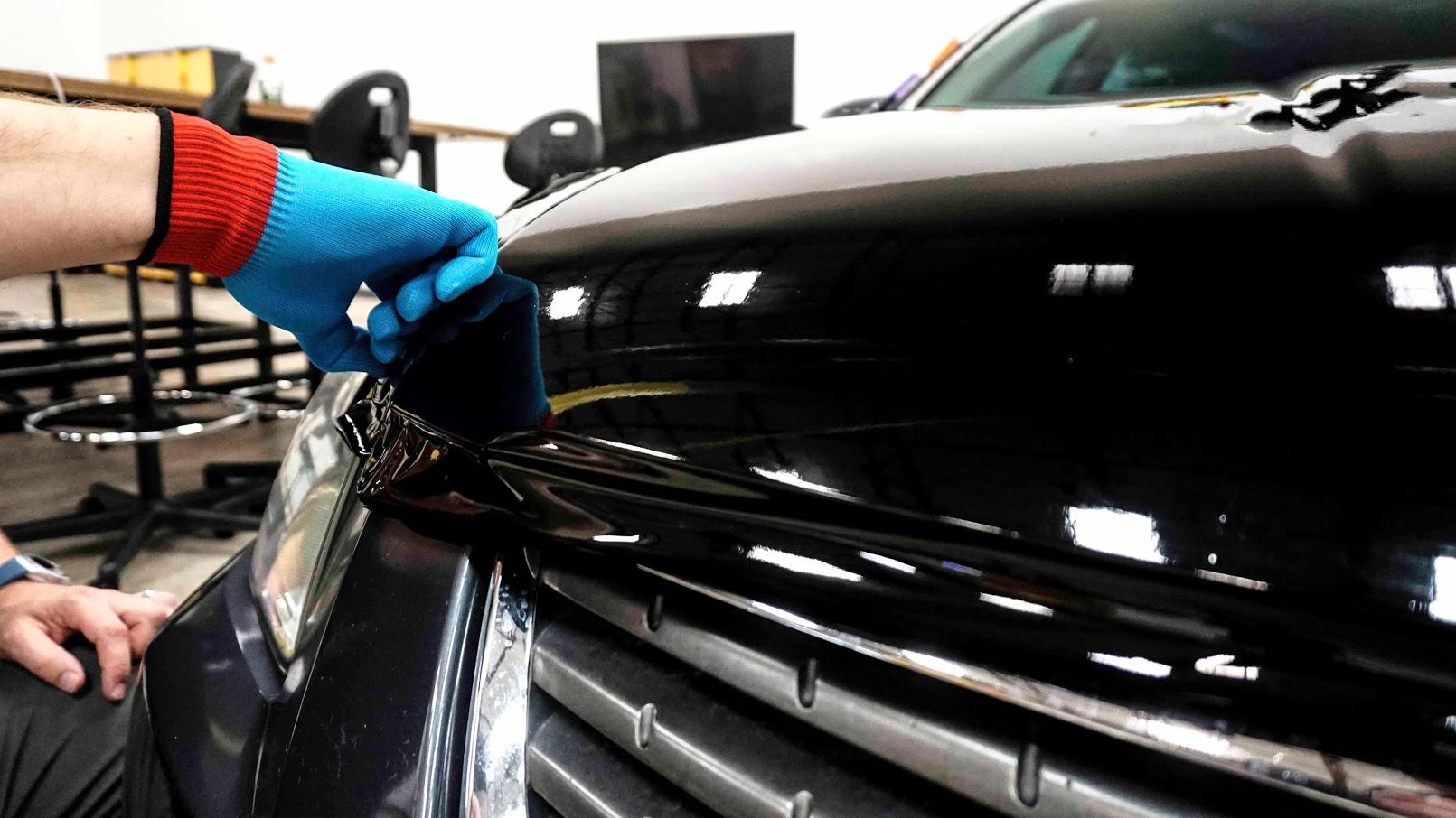 Hood Wrap Orafol Blue glove