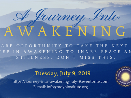A Journey Into Awakening: An Immersion in Sacred Transformational Energy