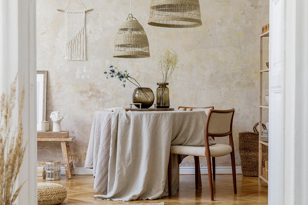 Stylish and elegant dining room interior