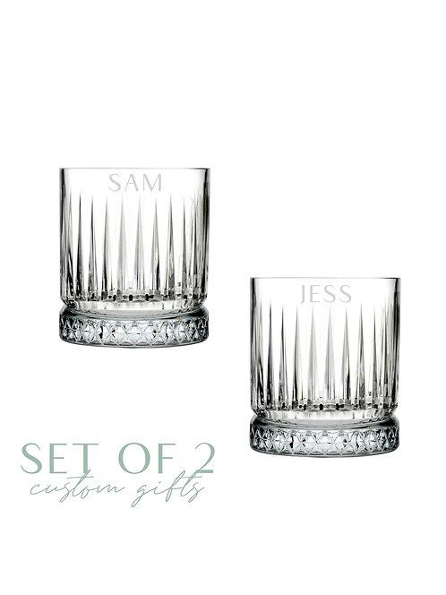 Elysia Whiskey/Cocktail Glass Set