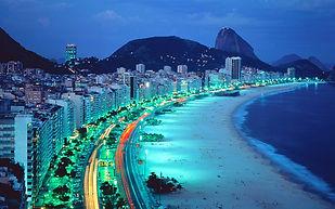 Orla de Copacabana à noite