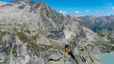 Scalando la Punta da l'Albigna 2823m