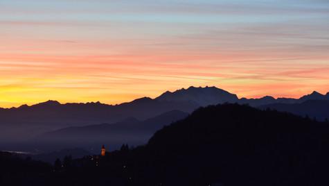 Monte Rosa dal Malcantone