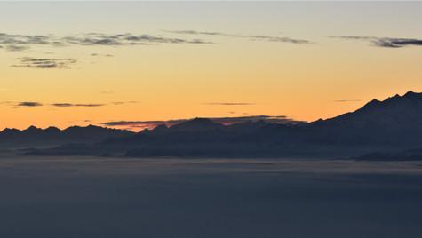 Tramonto dal Monte Lema 1621 m