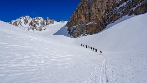 Verso il Monte Sautron 3166m