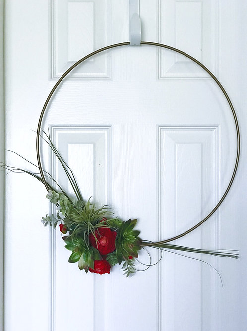 Simply Succulent Gold Wreath